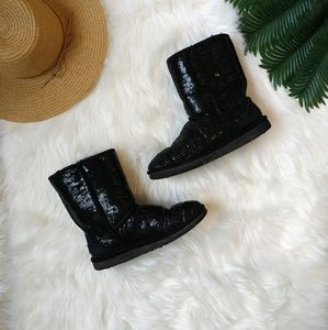 UGG Australia Sequin Classic Short Boots Size 9